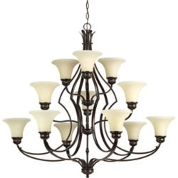 Progress Lighting Applause Collection 12-light Antique Bronze Chandelier