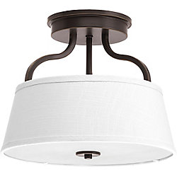 Progress Lighting Arden Collection 2-light Antique Bronze Semi-Flushmount
