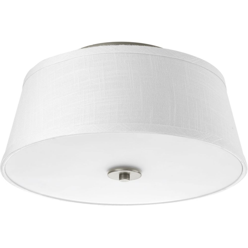 Progress Lighting Arden Collection 2-light Brushed Nickel Flushmount