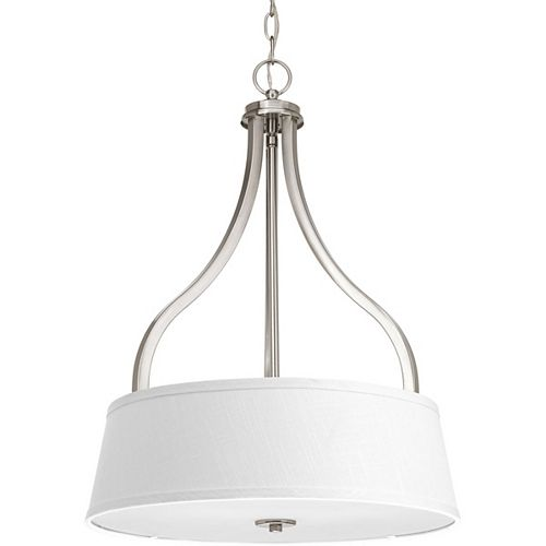 Progress Lighting Arden Collection 3-light Brushed Nickel Foyer Pendant