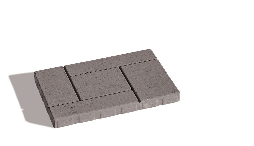 PERMACON Branford Slab 16-inch x 24-inch Paver in Grey