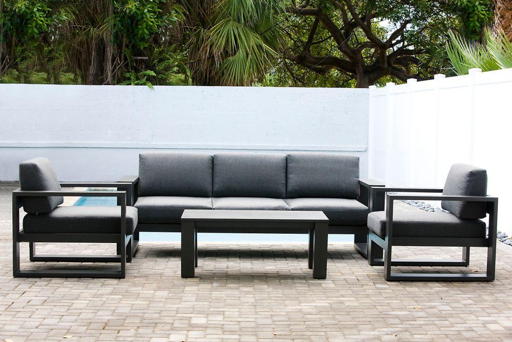 Patio Plus Cassara 4-Piece Patio Lounge Set