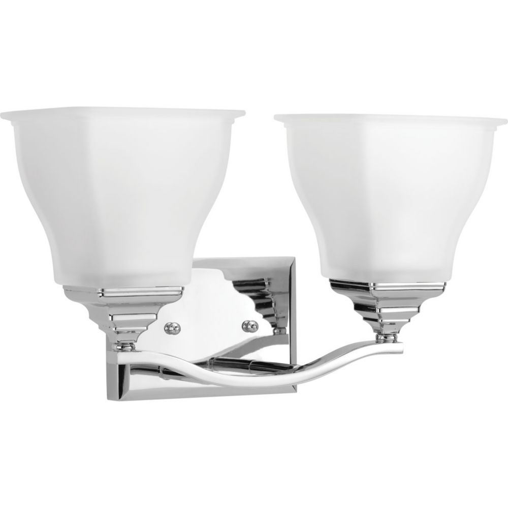 Progress Lighting Radiance Collection 1 Light Polished Chrome Vanity The Home Depot Canada