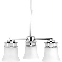Progress Lighting Cascadia Collection 3-light Polished Chrome Chandelier
