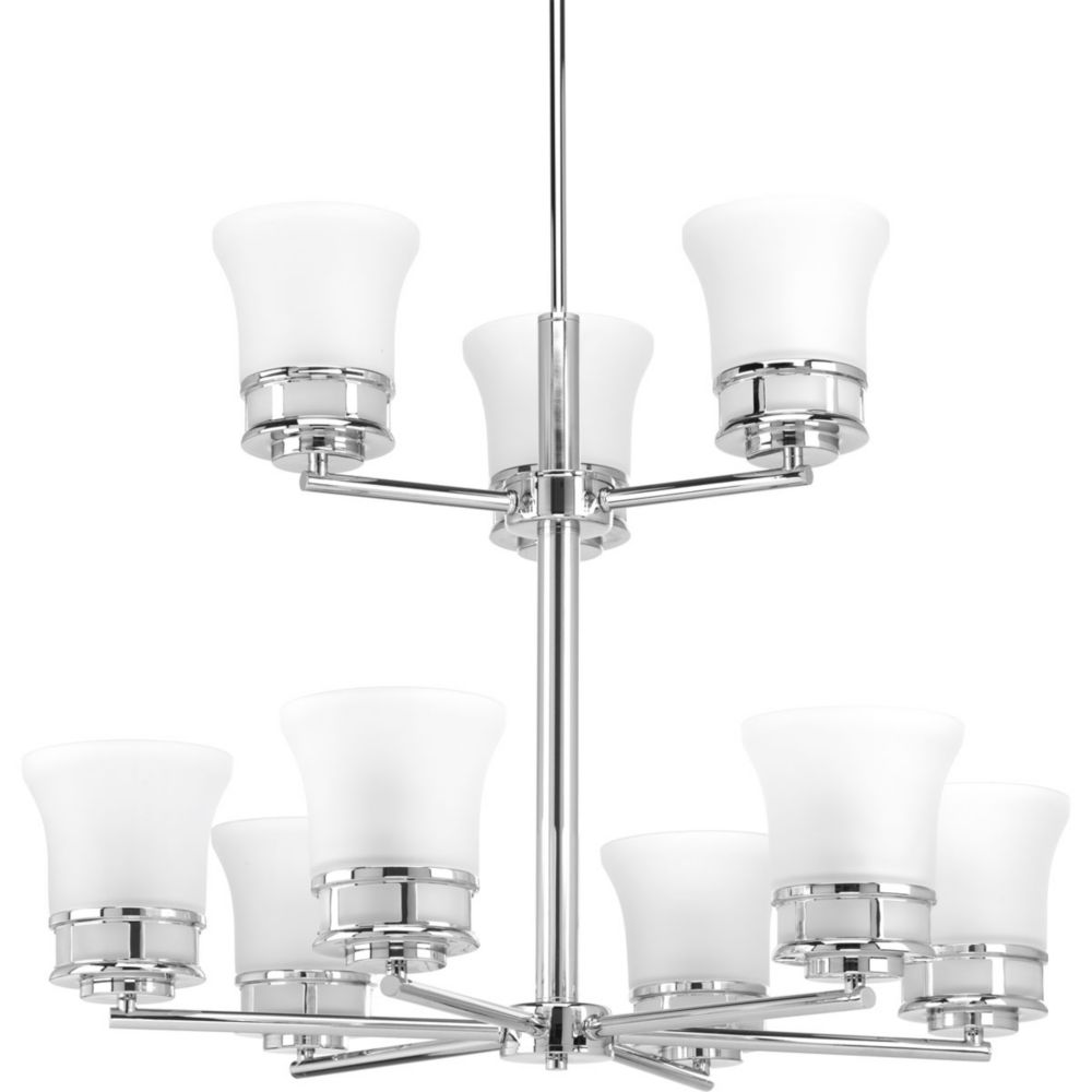 Progress Lighting Cascadia Collection 9-light Polished Chrome Chandelier
