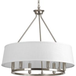 Progress Lighting Cherish Collection 6-light Brushed Nickel Chandelier