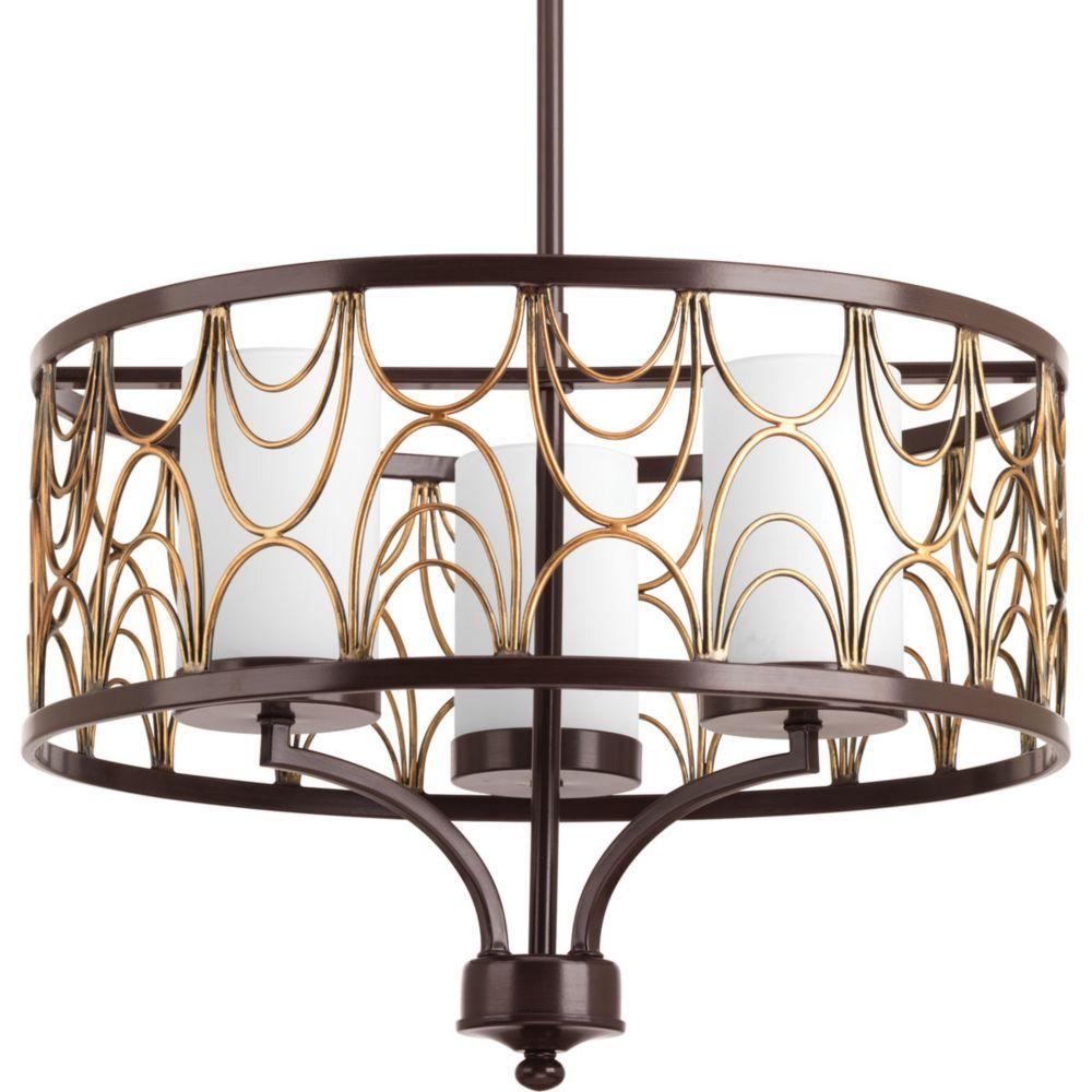 Progress Lighting Cirrine Collection 3-light Antique Bronze Chandelier