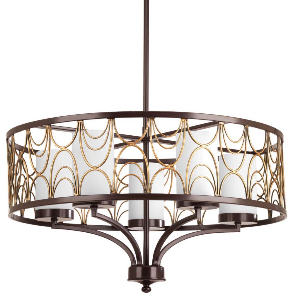 Progress Lighting Cirrine Collection 5-light Antique Bronze Chandelier
