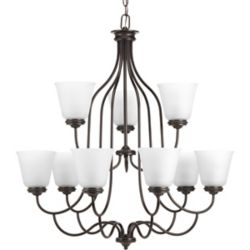 Progress Lighting Keats Collection 9-light Antique Bronze Chandelier