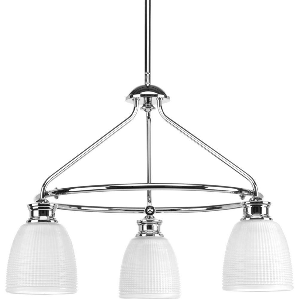 Progress Lighting Lucky Collection 3-light Polished Chrome Chandelier