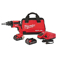 M18 FUEL 18V Lithium-Ion Cordless Compact Drywall Screw Gun Kit with (2) 2.0Ah Batteries