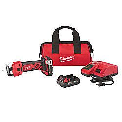 Milwaukee Tool M18 18V Lithium-Ion Cordless Cut Out Tool Kit W/ (2) 1.5Ah Batteries, Charger & Tool Bag