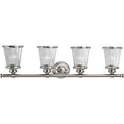 Progress Lighting Radiance Collection 4-light Brushed Nickel Vanity