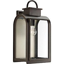 Progress Lighting Collection Refuge – Lanterne murale à ampoule unique, bronze huilé