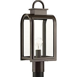 Progress Lighting Collection Refuge – Lampadaire à ampoule unique, bronze huilé