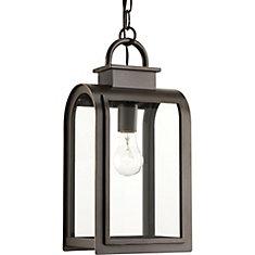 Collection Refuge  Lanterne suspendue à ampoule unique, bronze huilé