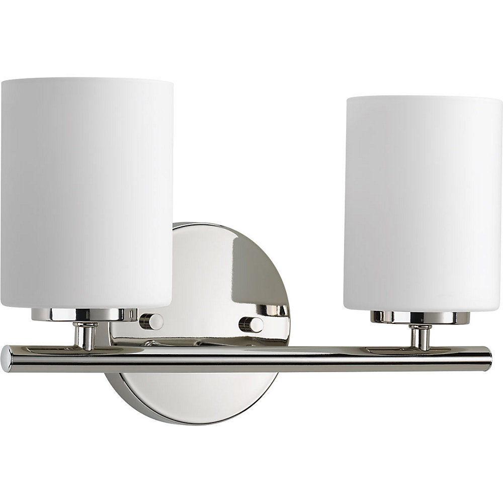 Replay Collection 2-light Polished Nickel Vanity