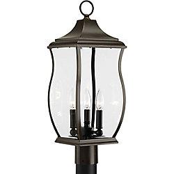 Progress Lighting Township Collection 3-light Oil Rubbed Bronze Post Lantern