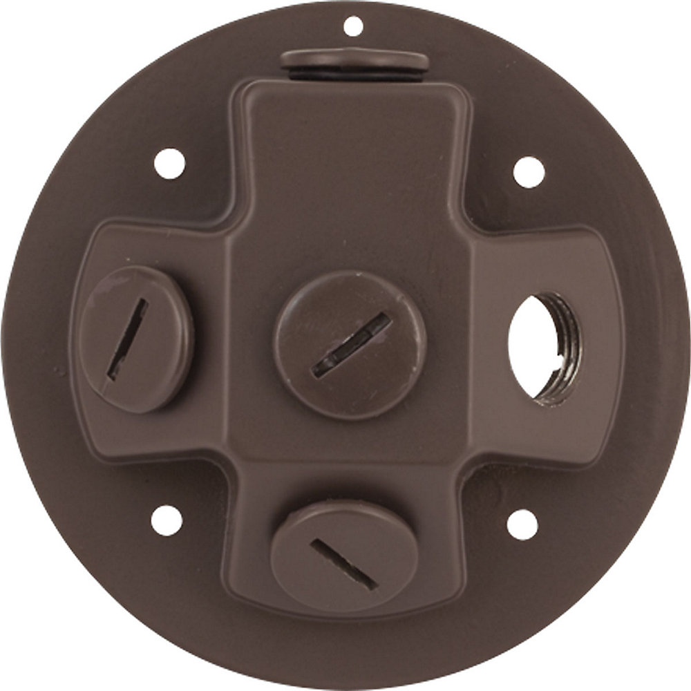 Security Light Collection -light Antique Bronze LED Floodlight Back plate