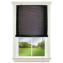 Hampton Bay 48 inch - 72 inch Corded Exterior Bamboo Roll Up Blind