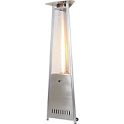 Zen-Temp Commercial Grade Stainless Steel Glass Tube Propane Patio Heater