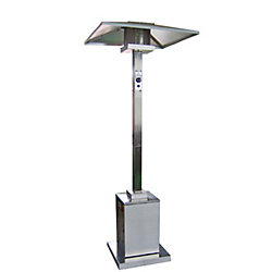 Hiland Brand Patio Heaters Tall Commercial Outdoor Patio Heater in Stainless Steel