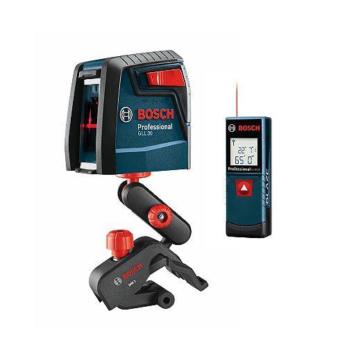 Bosch 65 ft. Range Leasure Measure with Self-Levelling Cross Line