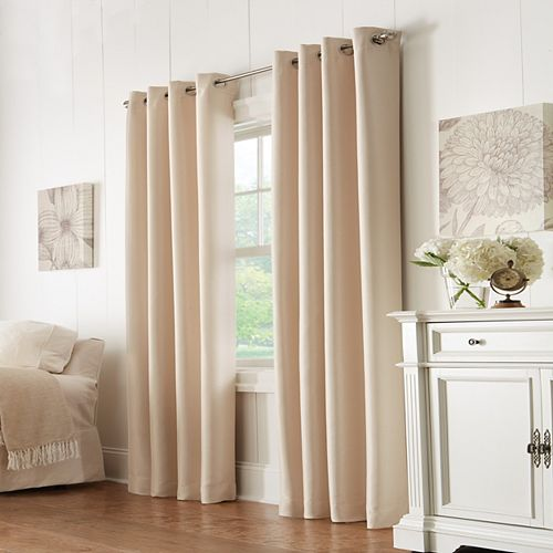 Home Decorators Collection Grace 100% Blackout Grommet Curtain 52 inches width X 84 inches length, Champagne