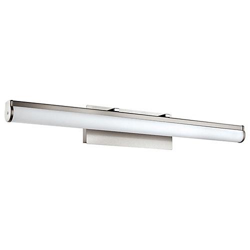 Calnova 1 LED Vanity Light, Matte Nickel Finish with White Glass - ENERGY STAR®