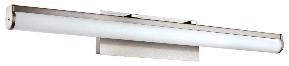 Eglo Calnova 1 LED Vanity Light, Matte Nickel Finish with White Glass - ENERGY STAR®
