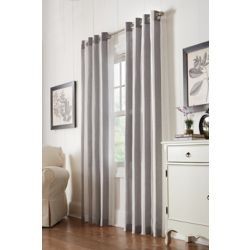 Home Decorators Collection Grey, Faux linen, semi sheer, grommet, 52 Inch x 84 Inch