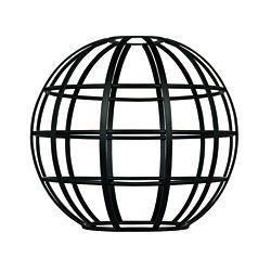 Westinghouse Matte Black Globe Cage