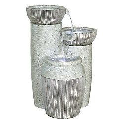 Henryka Polyresin 15.5-inch Outdoor Fountain with LED Light