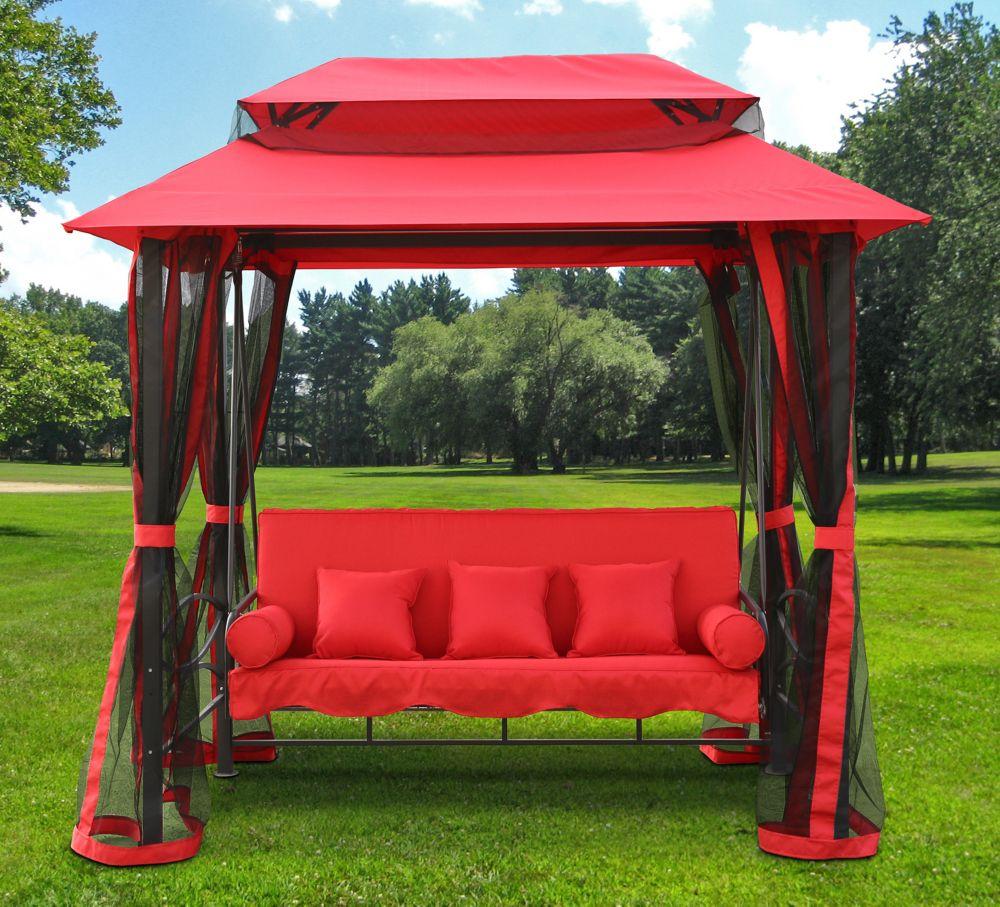 Gazebo Swing In Red