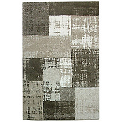 Cam Living Campbell Grey 7 ft. 9-inch x 10 ft. 8-inch Indoor Contemporary Rectangular Area Rug