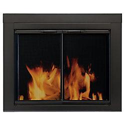 Pleasant Hearth Alpine Small Glass Fireplace Doors