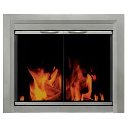 Pleasant Hearth Colby Large Glass Fireplace Doors