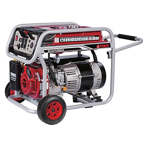 A- iPower SUA7000A 7000 watts essence alimenté générateur portable avec démarrage manuel.