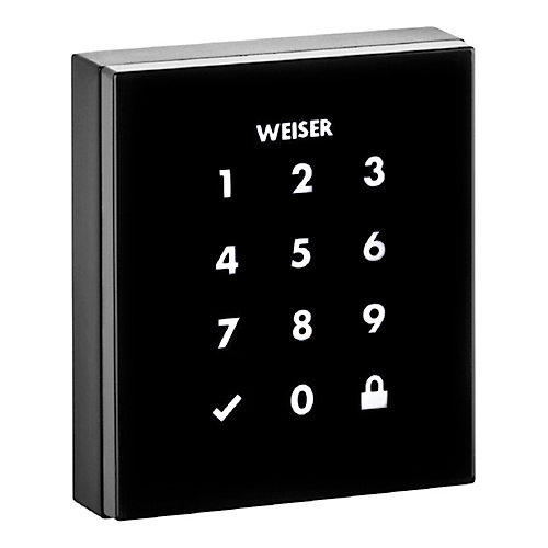 Obsidian Black Keyless Entry Touchscreen Electronic Deadbolt