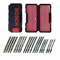 21-Piece T-Shank Jig Saw Blade Set Optimized For Wood Cutting