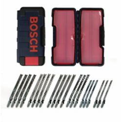 Bosch 21-Piece T-Shank Jig Saw Blade Set Optimized For Wood Cutting