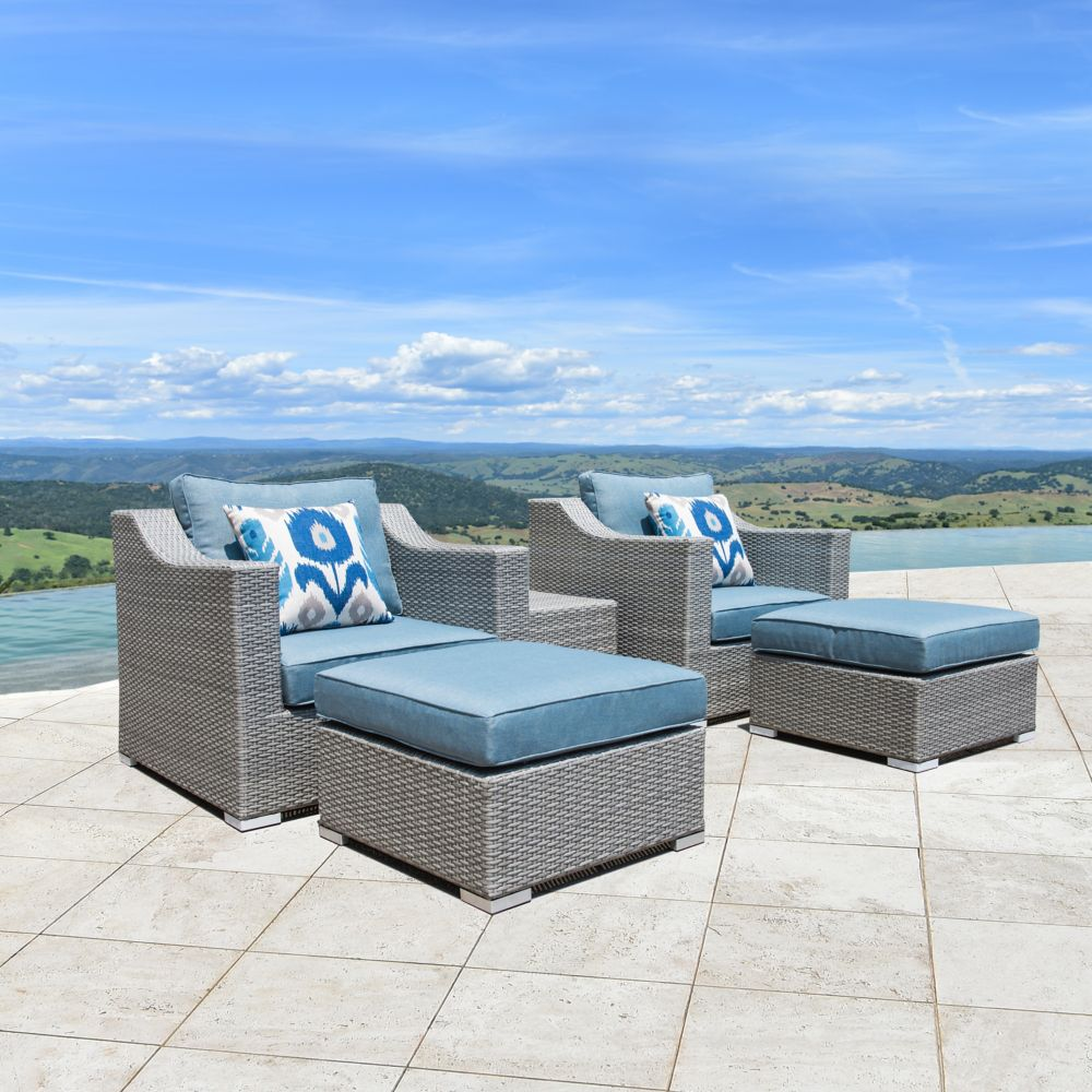 Sirio Kavala 5-Piece Patio Club Chair Set