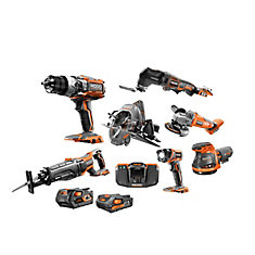 18V Gen5X Li-Ion Cordless (8-Tool) Combo Kit with Batteries, Charger and Bag