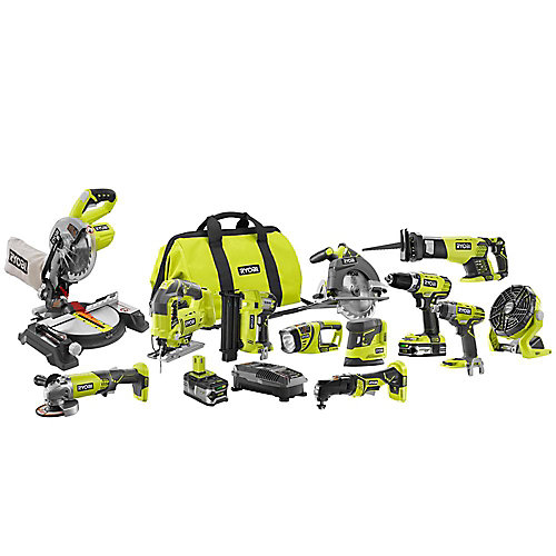 18V ONE+ Lithium-Ion Cordless Combo Kit (12-Tool) with Batteries, Charger and Bag