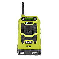 Kit radio compact sans fil 18V ONE+ Lithium-Ion sans fil avec technologie sans fil Bluetooth et batterie