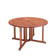 Miramar Hardwood Outdoor Drop Leaf Dining Table in Cinnamon Brown