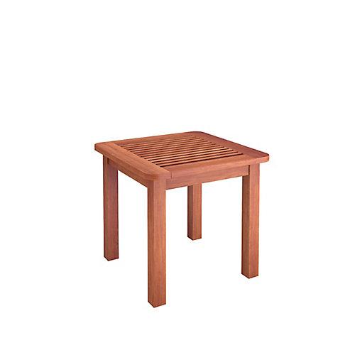 Miramar Hardwood Outdoor Side Table in Cinnamon Brown