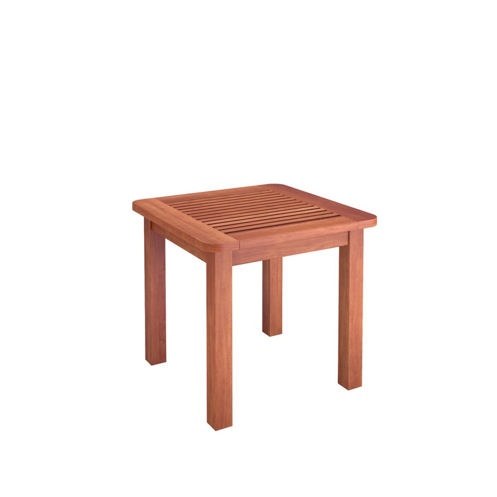 Corliving Miramar Hardwood Outdoor Side Table in Cinnamon Brown