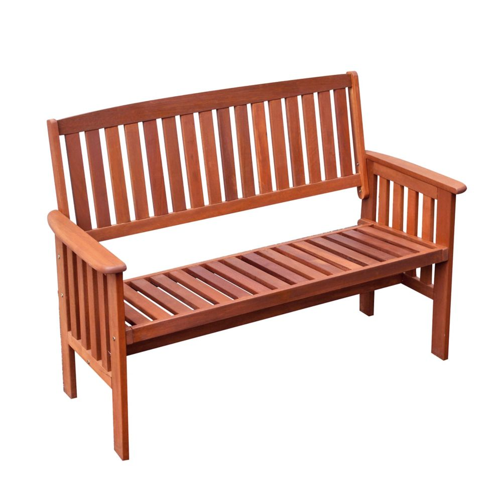 Corliving Miramar Hardwood Outdoor Bench in Cinnamon Brown