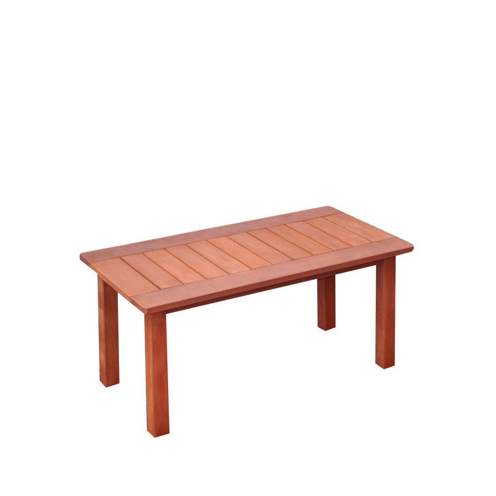 Corliving Miramar Hardwood Outdoor Coffee Table in Cinnamon Brown